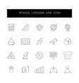 line icons set school lessons pack vector image vector image