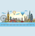 london colorful line art 9 vector image vector image