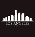 los angeles skyline vector image vector image