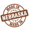 made in nebraska vector image vector image