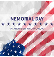 memorial day day usa flag in triangular style vector image