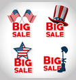 memorial day sale poster vector image