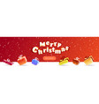 merry christmas happy new year poster wrapped gift vector image