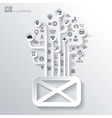 Message sms email icon Icon tree Flat abstract vector image