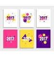 New Year 2017 banner or flyer layout set vector image