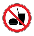 no food and drink vector image vector image
