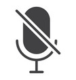 No microphone glyph icon web and mobile