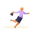 old woman falls