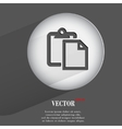 paper Flat modern web button with long shadow and vector image vector image
