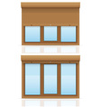 plastic window with rolling shutters 12 vector image vector image