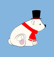 Polar bear in hat vector image