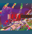 psychedelic guitar background vector image vector image