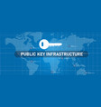 public key infrastructure or pki in network vector image