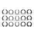 set elegant round frames eps8 vector image
