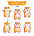 set of cute hamster characters set 5 vector image vector image