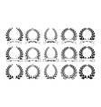 Set of elegant round frames eps8 vector image