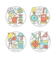 set of logos biology physics geometry vector image vector image