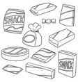 set of snack vector image