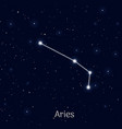 sign zodiac aries night sky background realistic vector image