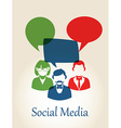 Social media people concept vector image vector image