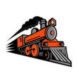 steam locomotive speeding mascot vector image