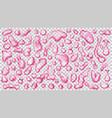transparent pink drops vector image vector image