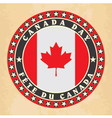 Vintage label with Canada Day vector image vector image