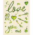 Watercolor love lettering vector image vector image
