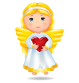 Angel with red heart vector image