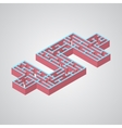 mazeIsometric dollar vector image