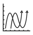 graph with arrow icon vector image