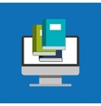 library education online global vector image