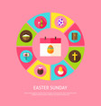 easter sunday concept vector image