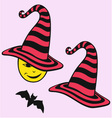 A Hat and a bat halloween vector image