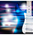 abstract blue white music background with electric vector image