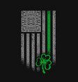 american celtic flag st patrick day vector image