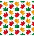 Autumn maple leafs pattern vector image vector image