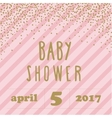 Baby shower invitation with confetti for girl vector image vector image