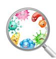 background with little angry viruses vector image vector image