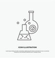 beaker lab test tube scientific icon line gray vector image vector image