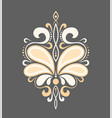 beautiful luxury pattern with curls ornament for vector image vector image