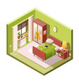 bedroom cartoon of isometric vector image