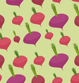 Beet pattern Seamless background with dark red vector image vector image