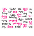 blog modern ink brush calligraphy set isolated vector image
