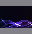 blue violet flame curve layer abstract background vector image