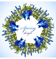 Bluebell flowers wreath vector image vector image