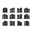 buildings and bank icons set company and office vector image vector image