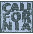 California typography stamp t-shirt graphics vector image vector image