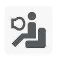 car safety icon vector image
