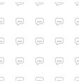 chat icon pattern seamless white background vector image vector image